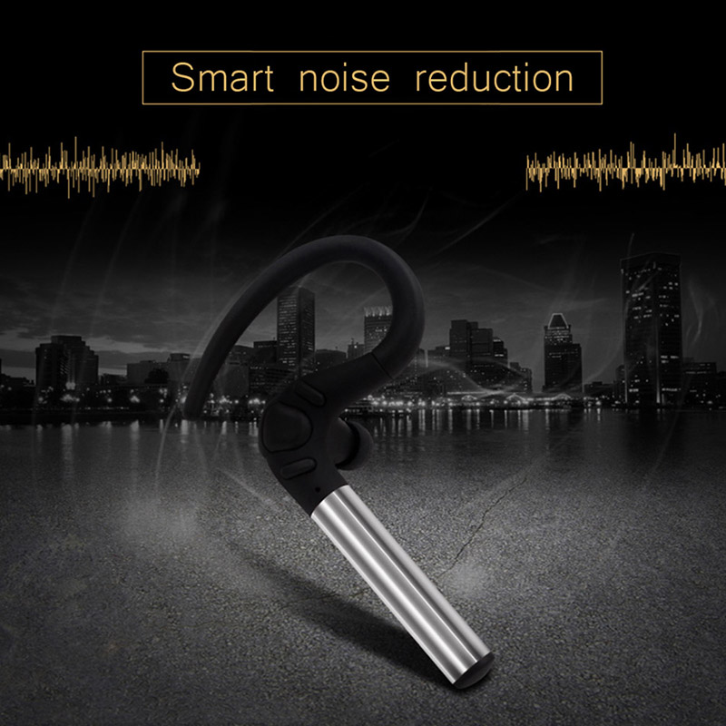 Bluetooth Headset Noise Canceling Earbud Wireless Car Earpiece with Mic Workout Business Earphone Sweatproof for Sports Running