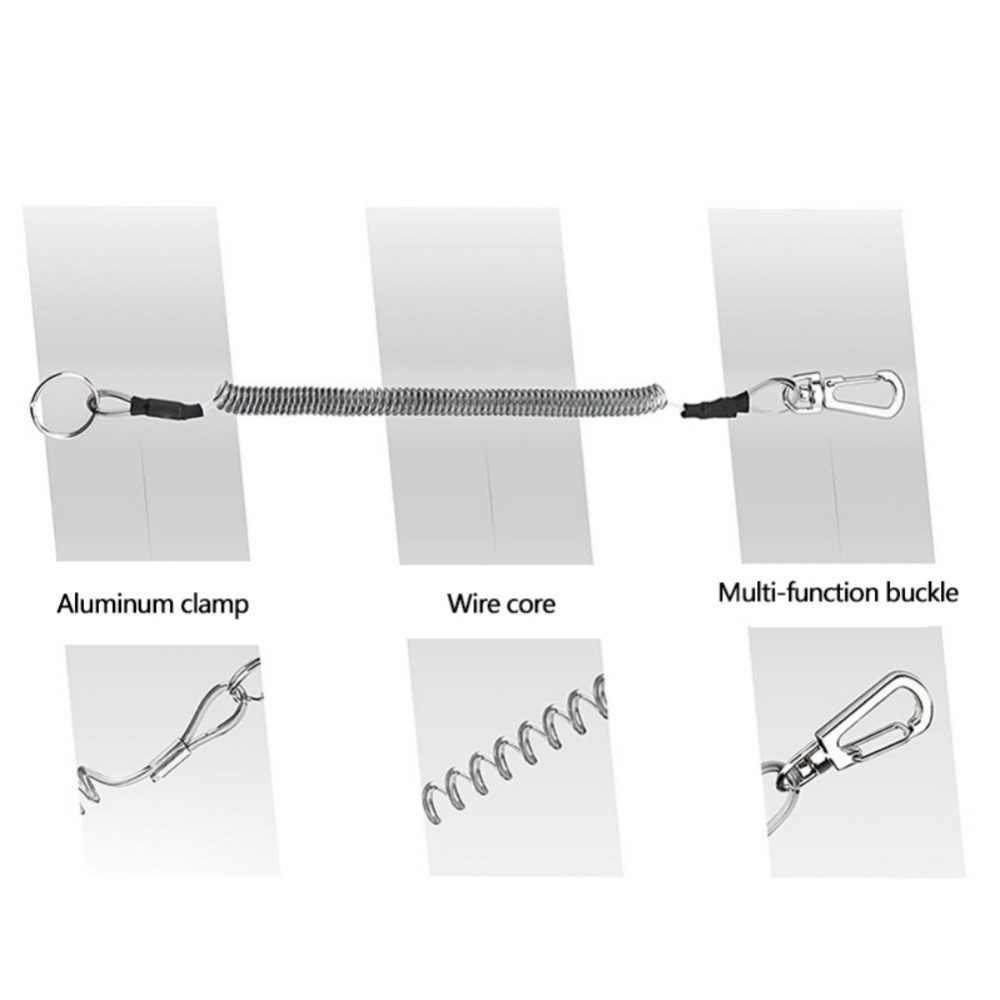 1pc sonné cordages de poisson rame cordes enroulées matériel de pêche ligne accessoires canne à pêche tige de Protection corde en acier