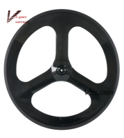 Full Carbon Tri Spoke 3 Spoke Carbon Wheel 70mm Clincher For Road Track Triathlon Time Trial