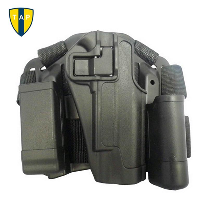 Military Holster For Colt 1911 CQC Coyote Tan Brown Tactical Leg Holster Gun Airsoft Pistol Belt Drop Holster