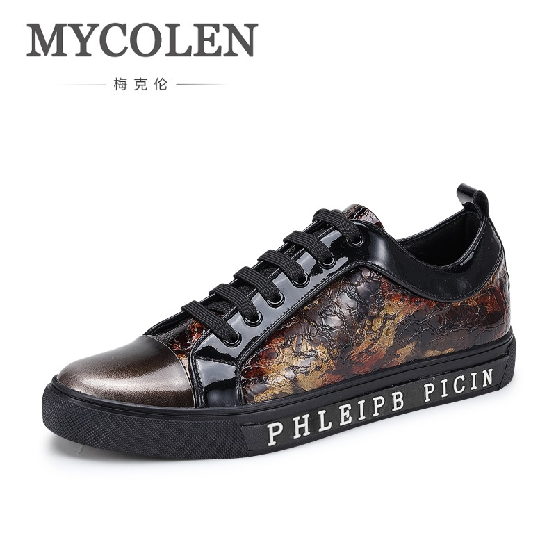 MYCOLEN 2018 Men's Spring Summer Comfortable Casual Shoes Men Shoes Lace-Up Brand Fashion Breathable Tide Male Flats Shoes klywoo new white fasion shoes men casual shoes spring men driving shoes leather breathable comfortable lace up zapatos hombre