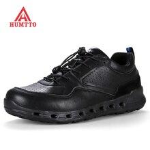 Zapatos de cuero genuino para hombre, zapatillas masculinas clásicas de lujo, de marca, informales, de seguridad, antideslizantes, con cordones, para exteriores