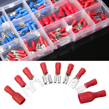 цена на Hot Sale 140pcs/kit Electrical Assorted Insulated Wire Cable Terminal Crimp Connector Spade Set Cord Pin End Terminals
