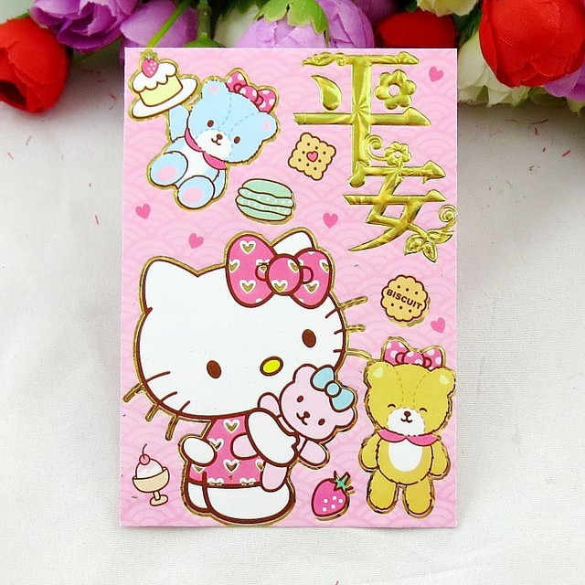 chinese new year birthday wedding housewarming red envelope lovely pink hello kitty theme red packets