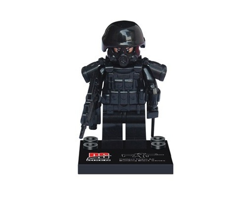 Military special forces original Blocks educational toy swat police military weapon accessories Compatible  Mini figures military swat team city police armed