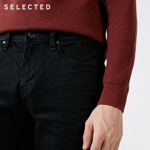 Image 5 - SELECTED Mens Autumn & Winter Fit Jeans Clothes Stretch Cotton Straight Denim Pants C