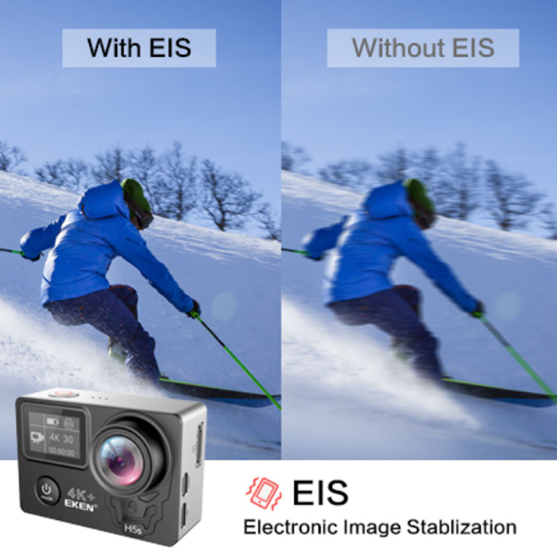 Экшен-камера EKEN H5S Plus Ultra HD с сенсорным экраном Ambarella A12 EIS 4 k/30fps 720 p/200fps 30M Водонепроницаемый go Helmet pro sport cam
