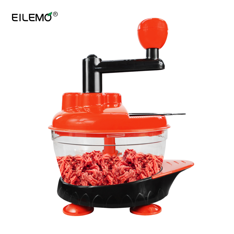 все цены на EILEMO Meat Grinder Cutting Machine Meat Slicer Mincer Cutter Portable Manual Hand Blender Mixer Food Processor онлайн