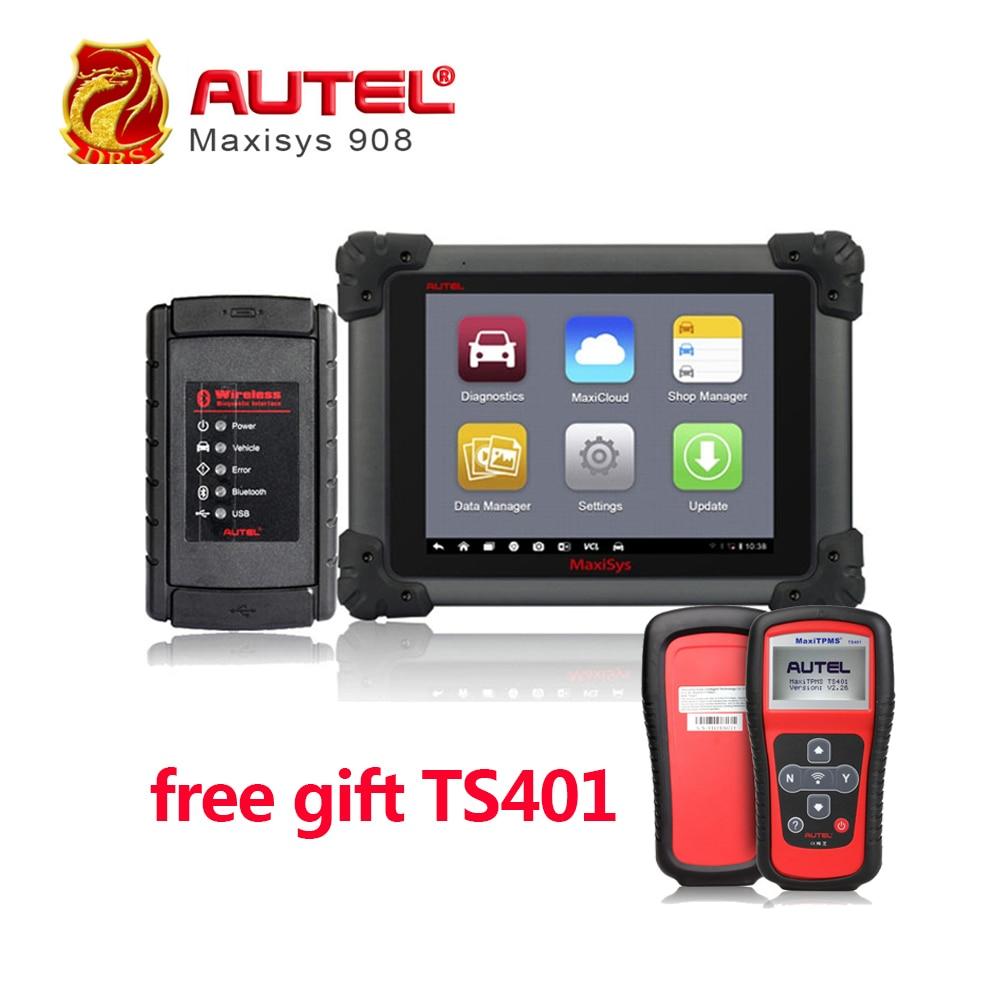 AUTEL MaxiSYS MS908 Automotive Diagnostic Tool Auto OBD II OBD2 Scanner Wifi Mec
