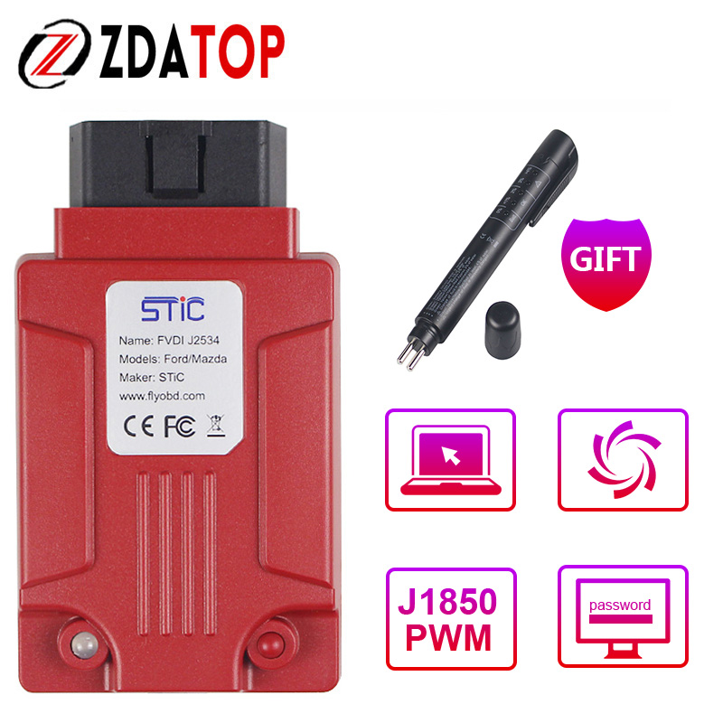 Modne ubrania Professional FVDI J2534 Diagnostic Tool for Mazda for Ford IDS for LH61
