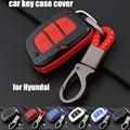 For Hyundai Mistra Sonata Fe I30 IX20 Solaris 2017 Creta Car carbon key case cover 1pcs keyboard cover car keys accessories