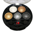 1pcs Pigment Eyeshadow 5 Colors Eye Shadow Powder Metallic Shimmer Warm Color