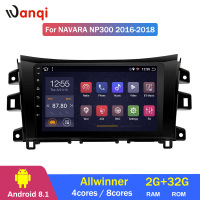 2G RAM 32G ROM 10.1 inch Android 8.1 car multimedia system For Nissan navara NP300 2016 2018 gps navigation