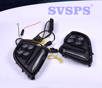 High Quality Tuning Parts Daytime Running Lights Fog Lights Modified Highlights For Chevrolet Cavalier 2017-2018