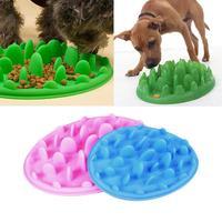 1 st S L Draagbare siliconen hond kom schotel huisdier voedsel container trage feeder puppy voeden training anti slip choke voorkomen Reizen S2