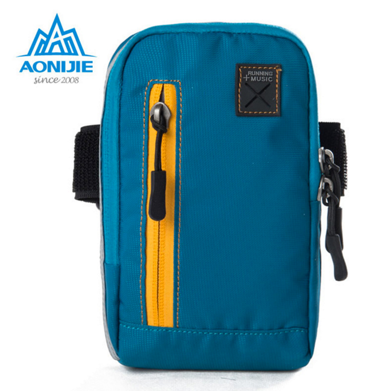 AONIJIE Outdoor Gym <font><b>Running</b></font> Arm Bag Adjustable Exercise Sports Cash Key Wallet <font><b>Phone</b></font> Case with Earbud Hole Music Player <font><b>Holder</b></font>