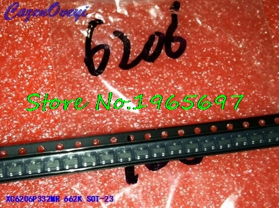 50pcs/lot XC6206P332MR XC6206P332 XC6206 3.3V 0.5A SOT-23 New Original In Stock