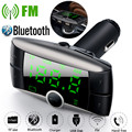 USPS Car Kit Handsfree Wireless Bluetooth FM Transmitter LCD MP3 Player USB Charger Car Accessories Audio Cable 2019 NEW