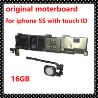 16GB Unlocked Phone Circuits For Iphone 5S Clean ICloud IOS System With Touch ID Original Mainboard