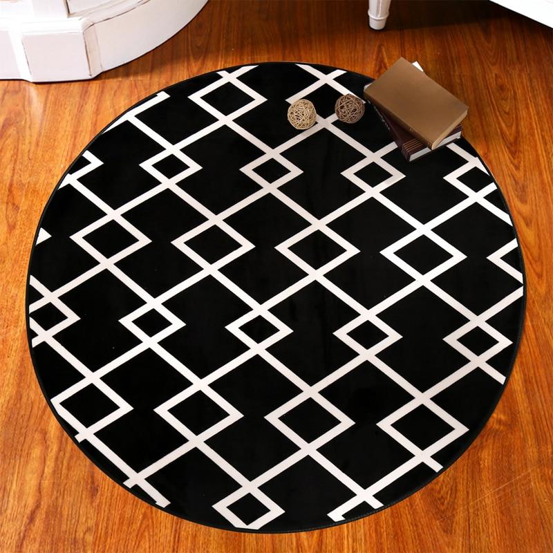 ⑤150cm Circular Computer Chair Cushion Yoga Mat Blanket Bedroom Mat ...
