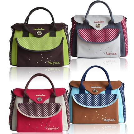 ФОТО free shipping Fashion baby diaper bags baby nappies bags multifunctional mummy bag nappy Changing bag handbag backpacks tote
