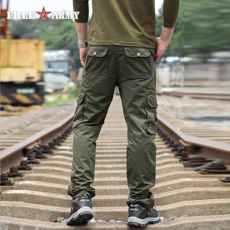 Znamka vojaške vojske zelene moške hlače 2018 novo bombažne - Moška oblačila - Fotografija 2