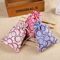 Colorful Dot Cotton Drawstring Bag 10x14cm Sachet Decorative Bags Product Packaging Gift Bags Jewelry Pouch 50pcs  H0247