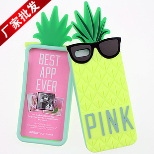 Victoria/'s PINK Secret Hybrid Colors Pineapple Style Original Soft Case Silicone 3D Rubber Cover iphone 5 5s - shenzhen sunstar technology co.,ltd store