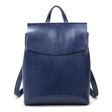 2017 Новый Опрятный Стиль женщины рюкзак старинные кожа школьные сумки для Девочек рюкзак мотоцикл сумка mochilas mujer