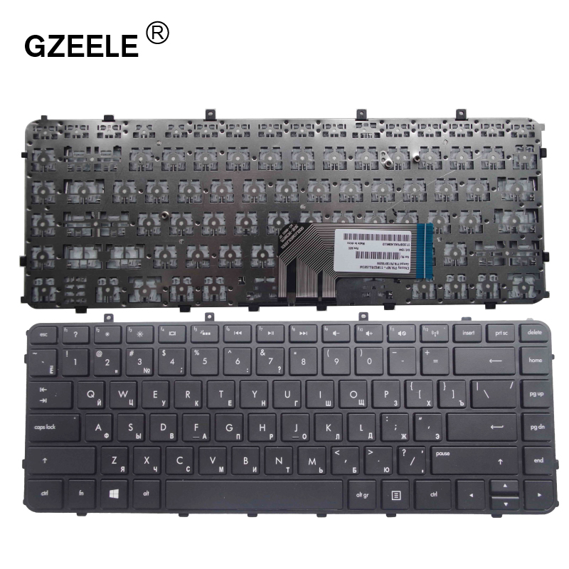 GZEELE Russian  Keyboard For HP Envy 4 6 4-1000 4-1100 4-1200 6 6-1000 6-1100 6-1200 Envy 4-1030us 4-1130U  RU Replace Keyboard