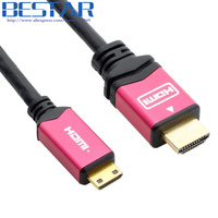 High Quality Mini HDMI to HDMI Cable 10ft 3m Male to Male hdmi 19+1 type c 1.4V 1080P for Tablet Camcorder MP4 Mini HDMI cable