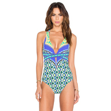 S-XL one piece swimsuit monokini underwire push up swimsuit women scallop 2017 swimwear female one piece bathing suit swimwear(China)