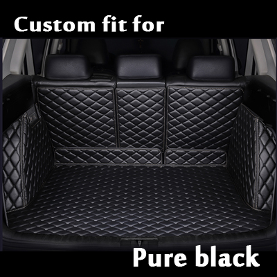 Auto Trunk Cover Full Set Car Trunk Mats Waterproof Boot Carpets Cargo Liner Mat For Toyota Landcruiser Zelas Sequoia