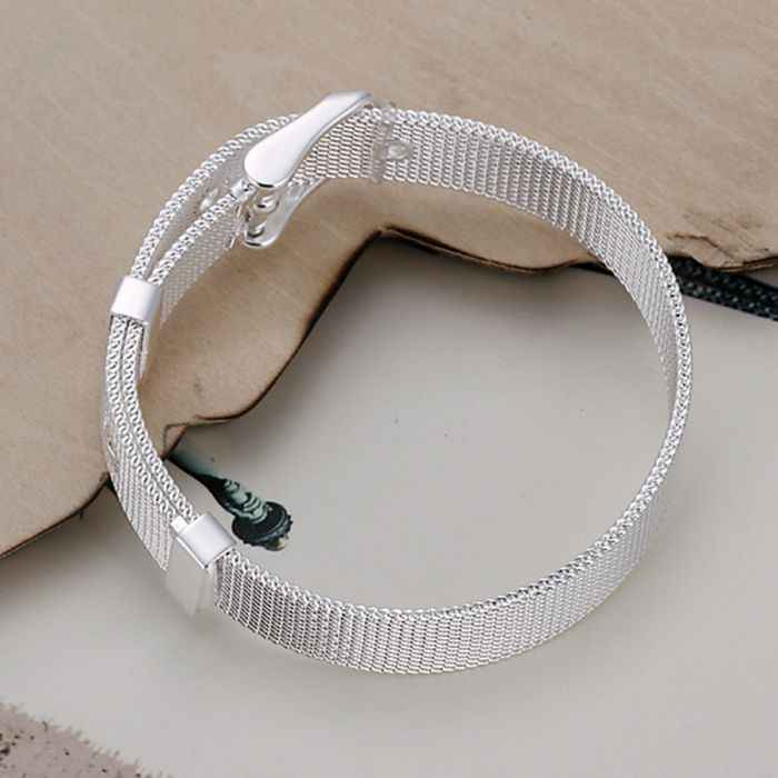 สร้อยข้อมือเงินชุบสร้อยข้อมือเงินเครื่องประดับอินเทรนด์สายรัดตาข่ายเครื่องประดับขายส่งจัดส่งฟรีawra LH237