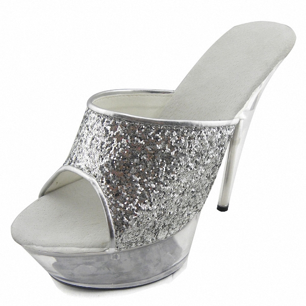 Professional Customize 15 Ultra High Heels Sandals Glitter Platform Bride Wedding Shoes Women's Shoes Crystal Shoes 15cm ultra high heels sandals ruslana korshunova platform crystal shoes the bride wedding shoes