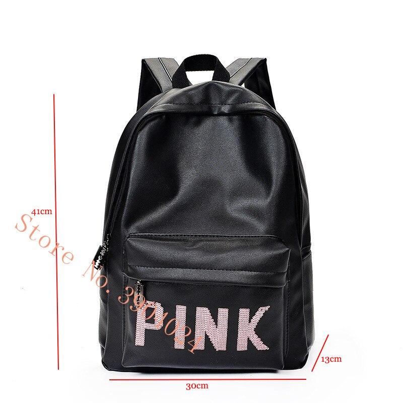 wholesale 3 colors VS Zipper Shoulder Versatile Sack Shopping BACKPACK Tote love pink backpack Summer Holiday Beach letter bag