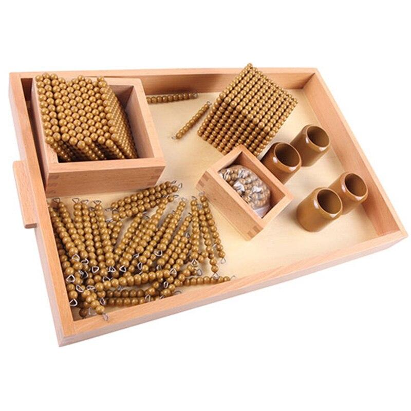 Montessori enfants jouet bébé bois perles d'or jeux d'apprentissage éducatif préscolaire formation Brinquedos Juguets - 5