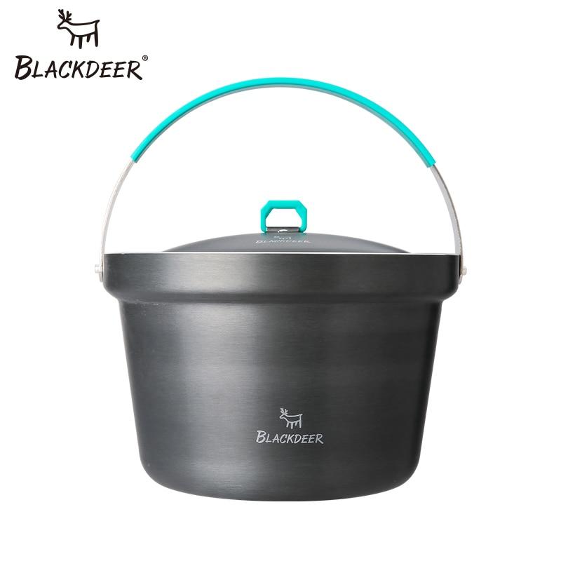 BLACKDEER Outdoor Camping Durable Cookware Pot Cooking Picnic Pan Camping Picnic Tableware Soup Rice Pot Anodized