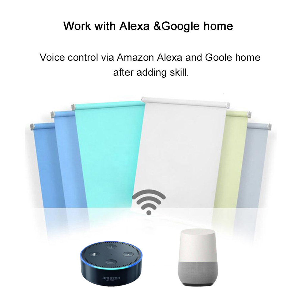 2018 smart Curtain Motor With Switch for Alexa Google home IFTTT ...
