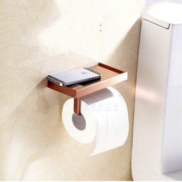 Bathroom Wall Mount Tissue Holder Toilet Paper Holder Rose Gold Inspiration Bathroom Paper