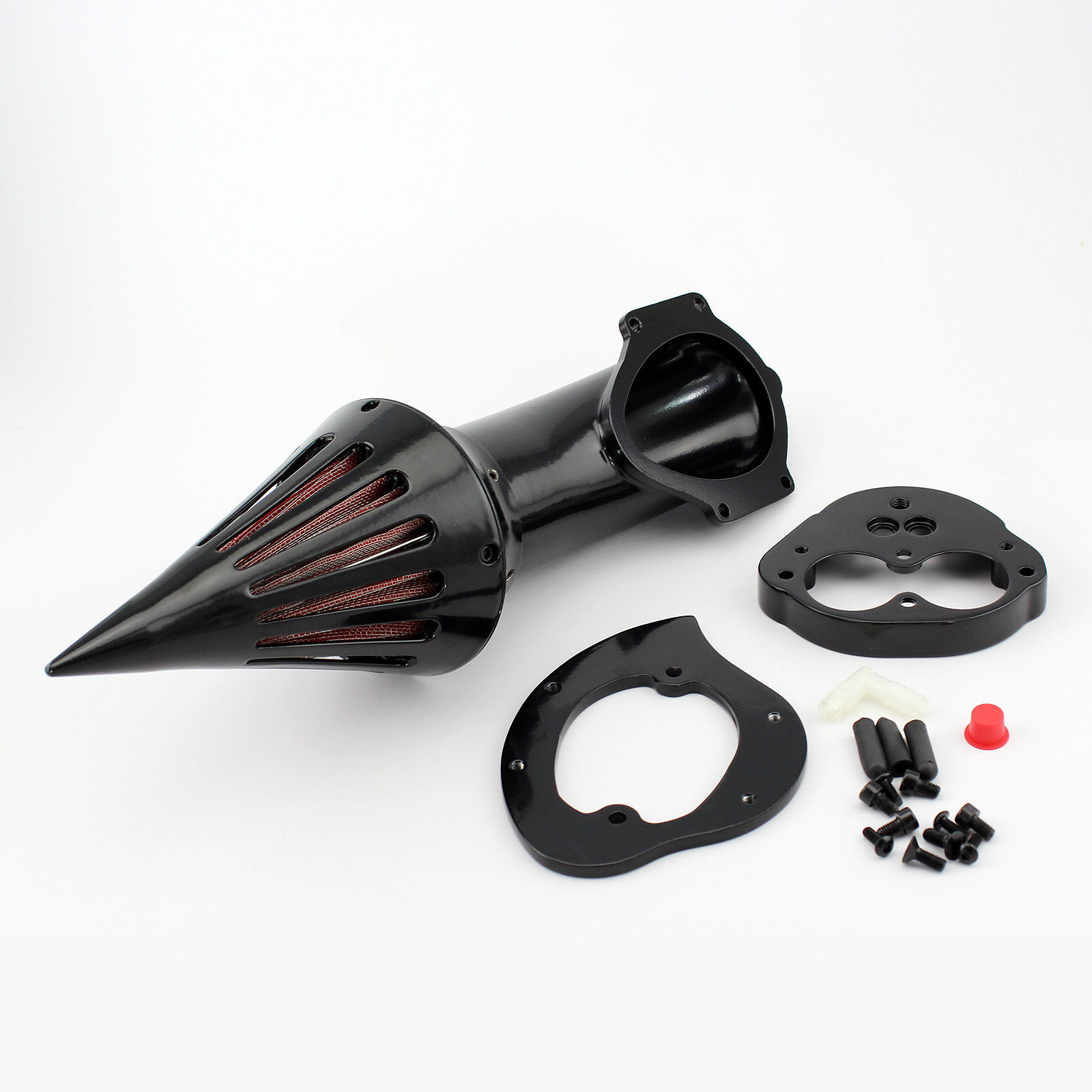 Фото Motorcycle Black Spike Air Cleaner Kits Intake Filter For Kawasaki Vulcan 1500 1600 Classic 2000-2012