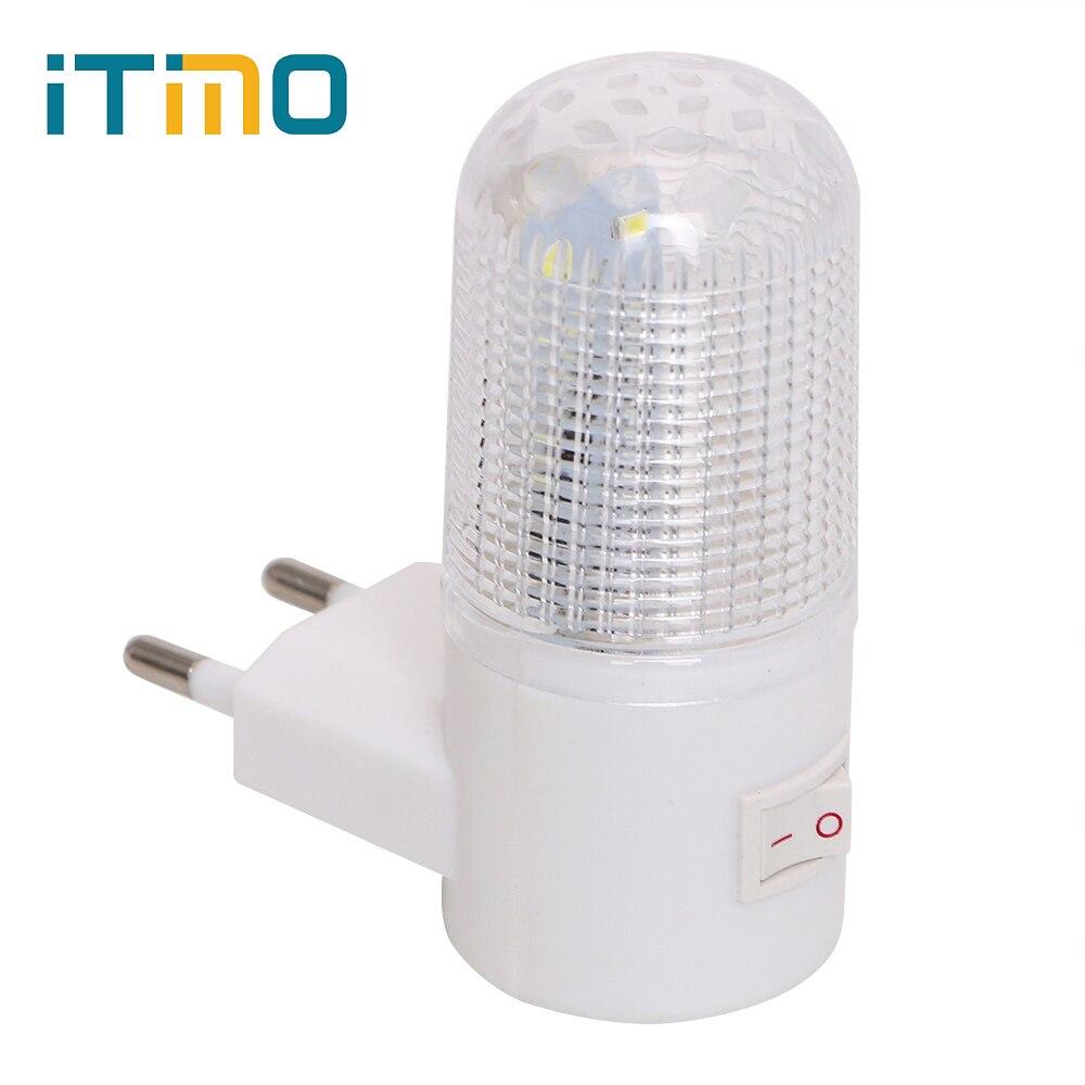 ฉุกเฉิน Light โคมไฟ LED Night Light EU ปลั๊กข้างเตียงโคมไฟติดผนังประหยัดพลังงาน 4 LEDs 3W