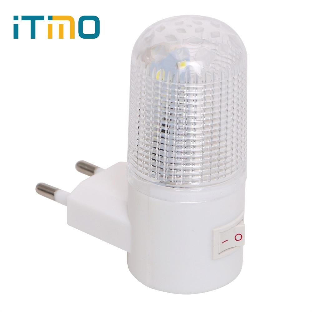 Awaryjne światło kinkiet oświetlenie domu LED lampka nocna ue wtyczka lampka nocna naścienny energooszczędny 4 diody LED 3W