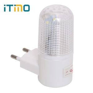 Image 1 - 비상 조명 벽 램프 홈 조명 LED 야간 조명 EU 플러그 침대 옆 램프 벽 마운트 에너지 효율적인 4 LED 3W