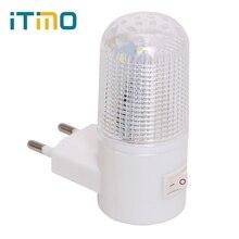 חירום אור קיר מנורת בית תאורה LED לילה אור האיחוד האירופי Plug המיטה מנורת קיר רכוב חסכוני באנרגיה 4 נוריות 3W
