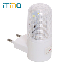 ضوء الطوارئ الجدار مصباح إضاءة المنزل LED ضوء الليل الاتحاد الأوروبي التوصيل أباجورة الحائط كفاءة في استخدام الطاقة 4 المصابيح 3 واط