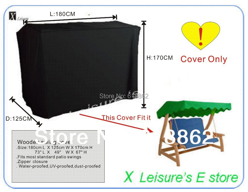 Free Shipping 180x125x170 Cm Garden Furniture Cover,Wooden Swing Cover  Water Proofed Cover For