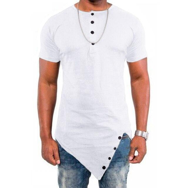 Фото футболка incerun мужская с коротким рукавом хлопок круглый вырез