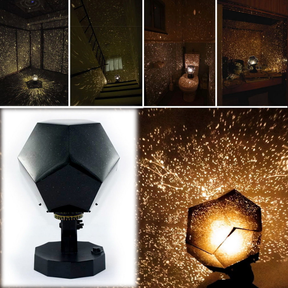Popular LED Night Light Star Celestial Projector DIY Lamp Night Sky Light For Romantic Party Christmas New Year Holiday Kid Gift