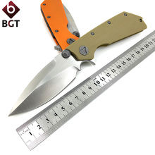 BGT Tactical Combat Folding Knives D2 Blade G10 Handle Pocket Survival Camping Knife Outdoor Hiking Hunting Rescue EDC Tools